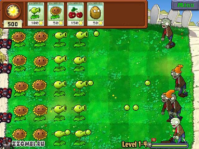 Цветы и зомби игра